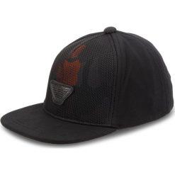Czapka z daszkiem EMPORIO ARMANI - Junior Boy's Baseball 404568 8A525 00020  L Black. Szare czapki z daszkiem męskie marki Emporio Armani, l, z nadrukiem, z bawełny, z okrągłym kołnierzem. Za 319,00 zł.