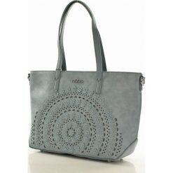 Miejska torebka shopper bag niebieska ALAINA. Brązowe kuferki damskie marki Nobo, w paski, ze skóry ekologicznej. Za 159,00 zł.