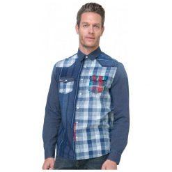 Desigual Koszula Męska Harrisburg S Niebieski. Szare koszule męskie marki Desigual, l, z tkaniny, casualowe, z długim rękawem. W wyprzedaży za 238,00 zł.
