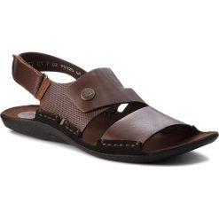 Sandały NIK - 06-0227-01-7-02-02 Brązowy. Brązowe sandały męskie skórzane Nik. W wyprzedaży za 159,00 zł.