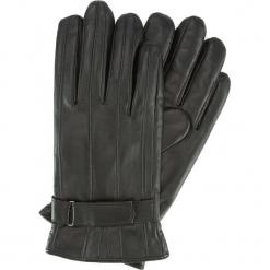 Rękawiczki męskie 39-6-707-1. Brązowe rękawiczki męskie Wittchen, w paski, z polaru. Za 185,00 zł.