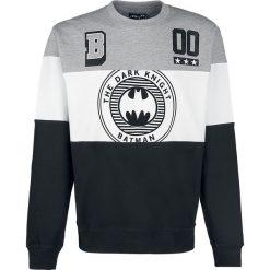 Bejsbolówki męskie: Batman Logo - Tripanel Bluza czarny/biały/odcienie szarego