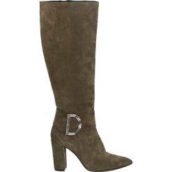 Kozaki - 7072 CRO BISO. Brązowe buty zimowe damskie marki Venezia, ze skóry. Za 499,00 zł.
