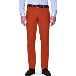 Spodnie Ceglaste Chino Soho. Czerwone chinosy męskie LANCERTO, w kolorowe wzory, z bawełny. W wyprzedaży za 149,90 zł.