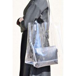 Torba transparentna. Czarne shopper bag damskie Pakamera, małe. Za 185,00 zł.