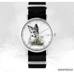 Zegarek - Lis - czarny, nato, unisex. Czarne zegarki męskie Pakamera. Za 129,00 zł.
