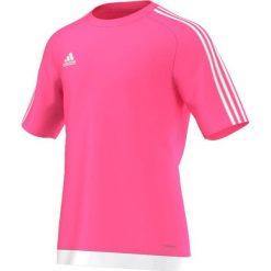 Adidas Koszulka piłkarska męska Estro 15 różowo-biała r. XL (S16163). Fioletowe koszulki sportowe męskie marki KIPSTA, m, z elastanu, z długim rękawem, na fitness i siłownię. Za 52,62 zł.
