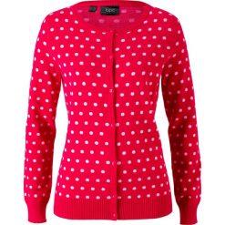 Sweter rozpinany bonprix czerwono-biały w groszki. Szare kardigany damskie marki Mohito, l. Za 79,99 zł.
