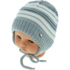 Czapka niemowlęca podszyta bawełną cz-059D. Szare czapeczki niemowlęce Proman, z bawełny. Za 29,56 zł.