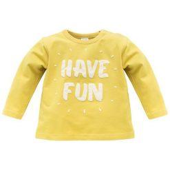 Pinokio Koszulka Chłopięca Funny Dog 80 Żółty. Żółte t-shirty chłopięce Pinokio, z bawełny. Za 33,00 zł.