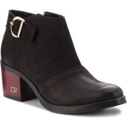 Botki CARINII - B4229 360-000-000-861. Czarne buty zimowe damskie marki Carinii, z nubiku, na obcasie. W wyprzedaży za 239,00 zł.