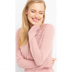 Sweter z ażurową wstawką. Brązowe swetry klasyczne damskie marki Orsay, s, z dzianiny. Za 59,99 zł.