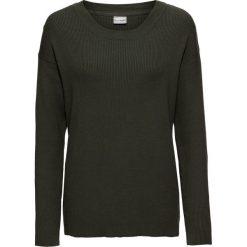 Swetry damskie: Sweter bonprix nocny oliwkowy