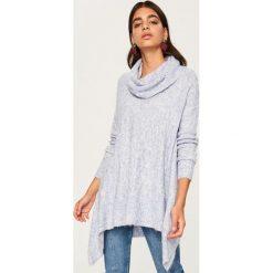 Długi sweter z golfem - Fioletowy. Fioletowe golfy damskie Reserved, l, z długim rękawem. Za 119,99 zł.