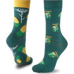 Skarpety Wysokie Unisex MANY MORNINGS - Pickles  Zielony. Zielone skarpetki męskie marki Many Mornings, z bawełny. Za 29,00 zł.