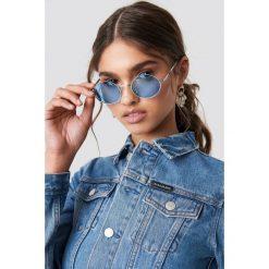 NA-KD Accessories Owalne kolorowe okulary przeciwsłoneczne - Blue. Szare okulary przeciwsłoneczne damskie lenonki marki ORAO. Za 40,95 zł.