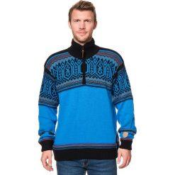 Golfy męskie: Sweter w kolorze niebiesko-czarnym