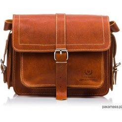 SKÓRZANA TORBA NA RAMIĘ PAOLO PERUZZI Q-43-BR. Brązowe torby na ramię męskie marki Kazar, ze skóry, przez ramię, małe. Za 439,00 zł.