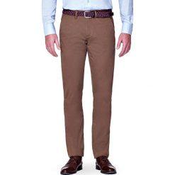 Chinosy męskie: Spodnie Beżowe Chino Pedro
