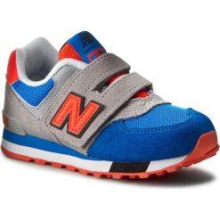 Sneakersy NEW BALANCE - KV574WJY Kolorowy Szary. Szare trampki chłopięce marki New Balance, w kolorowe wzory, z materiału, na rzepy. W wyprzedaży za 199,00 zł.