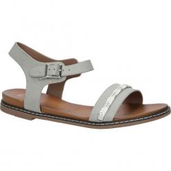 Szare sandały letnie z ozdobnym plecionym paskiem Casu K18X10/G. Czerwone sandały damskie marki Melissa, z kauczuku. Za 29,99 zł.