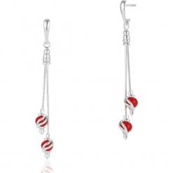 Srebrne Kolczyki - srebro 925, Reso koral. Czerwone kolczyki damskie marki Pakamera, z koralem. Za 169,00 zł.