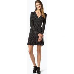 Aygill's - Sukienka damska, czarny. Czarne sukienki z falbanami Aygill's Denim, s, w kropki, z denimu, z kopertowym dekoltem, kopertowe. Za 159,95 zł.