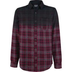 Koszule męskie na spinki: Retrofit Brand MFG. Checkered Shirt Indigo Plaid Koszula czarny/czerwony/szary