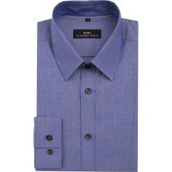 Koszula MICHELE KDNE000044. Niebieskie koszule męskie na spinki Giacomo Conti, m, z bawełny, z klasycznym kołnierzykiem. Za 199,00 zł.