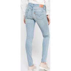 Levi's - Jeansy 711 Let's Run Away. Brązowe jeansy damskie rurki marki Levi's®. W wyprzedaży za 229,90 zł.