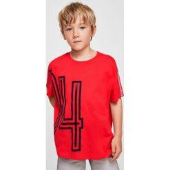 Odzież chłopięca: Mango Kids – T-shirt dziecięcy Race 104-164 cm