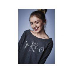 Bluzy damskie: BLUZA CASUAL ANTRACYT MELANŻ (Wolność/Radość/Dzikość)