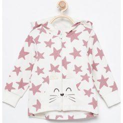 Ciepła bluza z kapturem - Kremowy. Białe bluzy niemowlęce marki Reserved, z kapturem. Za 49,99 zł.