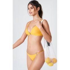 J&K Swim X NA-KD Góra bikini z detalem - Yellow. Żółte bikini marki NABAIJI. Za 60,95 zł.
