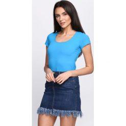 T-shirty damskie: Niebieski T-shirt Sweet Teraphy