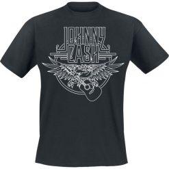 Johnny Cash Eagle T-Shirt czarny. Czarne t-shirty męskie z nadrukiem Johnny Cash, l, z okrągłym kołnierzem. Za 74,90 zł.
