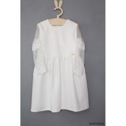 Sukienka Motyl z koronka. Białe sukienki dziewczęce z falbanami Pakamera, z haftami, z koronki, z długim rękawem, długie. Za 159,00 zł.