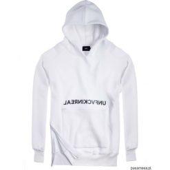 Bluza Damska HOODIE EX OVE UNFVCKINREAL WHITE. Białe bluzy męskie rozpinane Pakamera, m, z długim rękawem, długie, z kapturem. Za 259,00 zł.