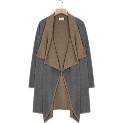 Swetry damskie: Kardigan w kolorze szaro-brązowym