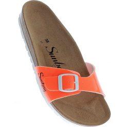 """Chodaki damskie: Klapki """"Jasmin"""" w kolorze pomarańczowym"""