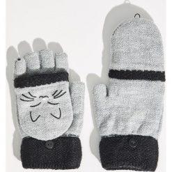 Rękawiczki z kotem - Jasny szar. Szare rękawiczki damskie Sinsay. Za 24,99 zł.