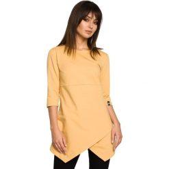 BECCA Tunika z zakładką - żółta. Żółte tuniki damskie BE, na co dzień, l, z jeansu, klasyczne. Za 136,99 zł.