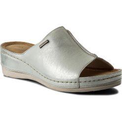 Chodaki damskie: Klapki WASAK - 0413 Biały/Srebrny