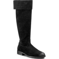 Kozaki MARC O'POLO - 608 12968002 300 Black 990. Czarne buty zimowe damskie Marc O'Polo, z materiału, przed kolano, na wysokim obcasie, na obcasie. W wyprzedaży za 629,00 zł.