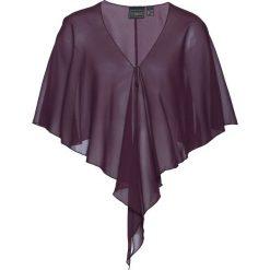 Bluzka narzutka bonprix czarny bez. Białe bluzki wizytowe marki bonprix, w kropki, biznesowe, z kopertowym dekoltem, moda ciążowa. Za 37,99 zł.