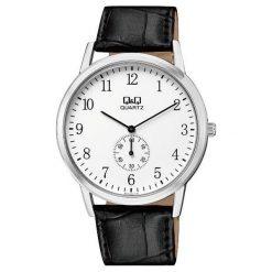 Zegarek Q&Q Męski Klasyczny  QA60-304 Pasek czarny. Czarne zegarki męskie Q&Q. Za 119,80 zł.