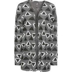 Bluza bez zapięcia bonprix czarno-biały wzorzysty. Czarne bluzy damskie bonprix. Za 79,99 zł.