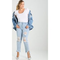 Bomberki damskie: Missguided Plus Kurtka jeansowa light blue