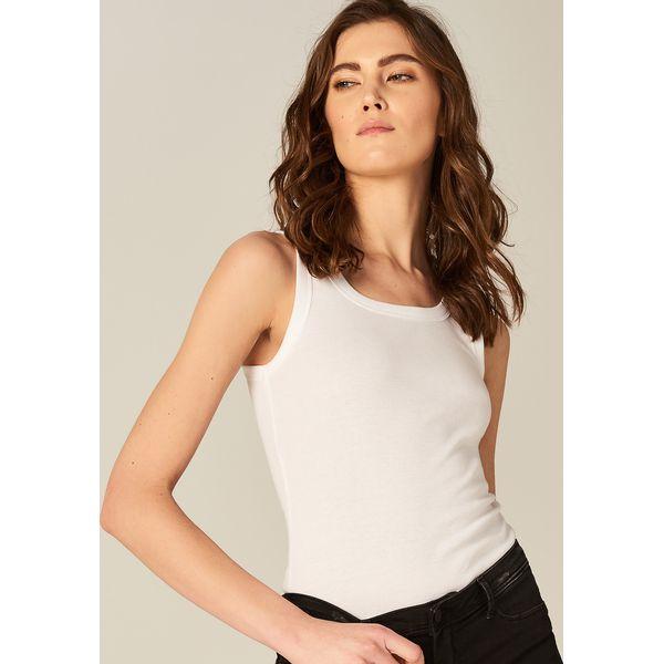 e102c9cf Gładki bawełniany top - Biały