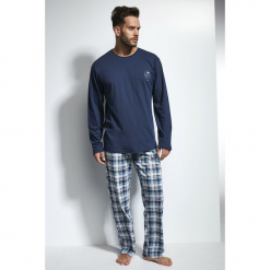 Męska piżama CORNETTE Great Outdoors. Niebieskie piżamy męskie marki Astratex, z bawełny. Za 114,45 zł.